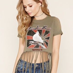 """Forever 21 + """"Livin Easy Tour"""" Crop Top"""